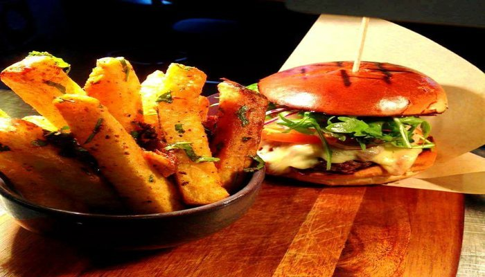 Walled City Brewery Burger