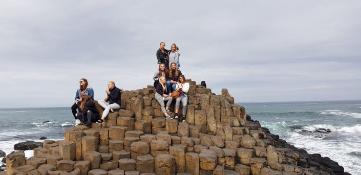 Basingstoke Girls at Giants Causeway - Irish Rugby Tours To Belfast