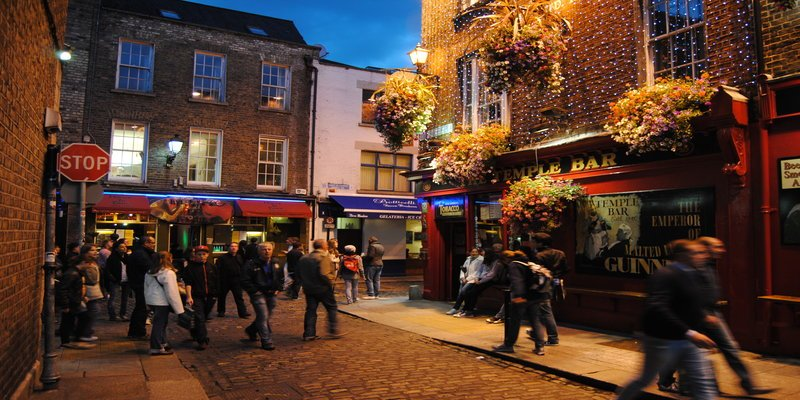 Temple Bar - Irish Rugby Tours, Rugby Tours To Dublin