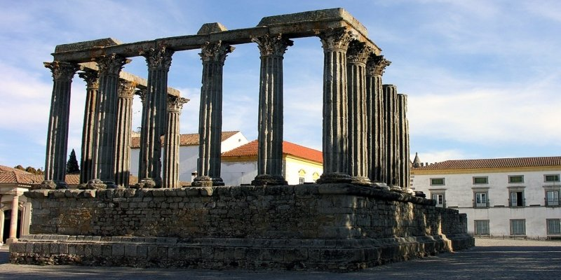 Roman Temple At Evora - Irish Rugby Tours, Pulsating Portugal