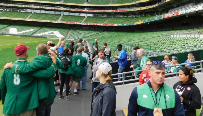 Irish Rugby Tours at the Aviva Stadium in Dublin