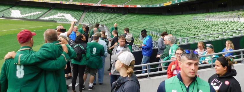 Irish Rugby Tours at the Aviva Stadium in Dublin