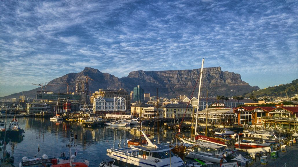 Table Mountain in Cape Town, South Africa, rugby tours 2021