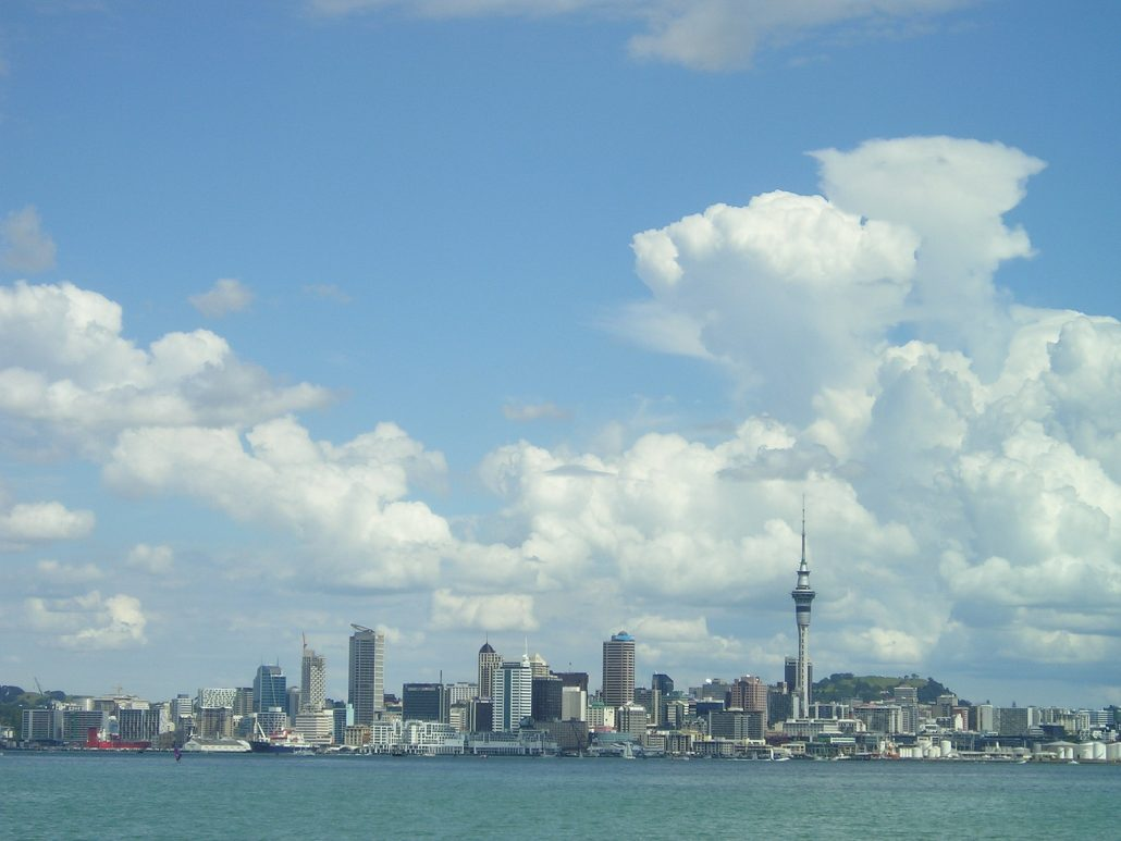 Skyline in Auckland, New Zealand and tours rugby