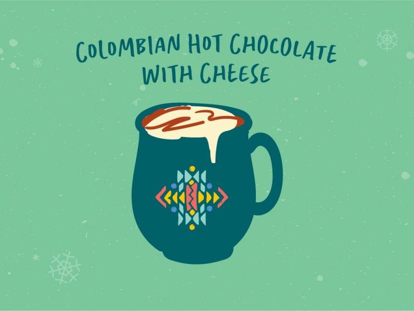 Columbian Hot Chocolate with Cheese